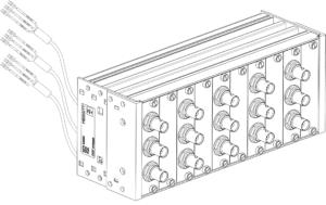 VibroSmart® VSA004 DIN rail mounting BNC patch panel
