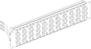 VibroSmart® VSA005 19″ rack mounting BNC patch panel