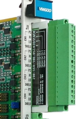 Voltage-drop adaptor for VM600 IOC4T card